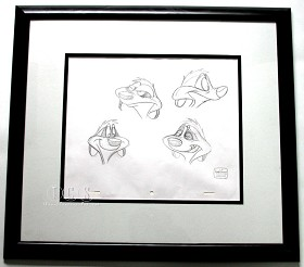 WDCC Disney Classics_The Lion King Timon Original Production Drawing