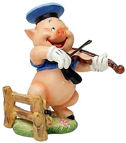 WDCC Disney Classics_Three Little Pigs Fiddler Pig Hey Diddle Diddle I Play On My Fiddle