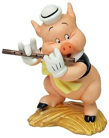 WDCC Disney Classics_Three Little Pigs Fifer Pig I Toot My Flute I Don't Give A Hoot