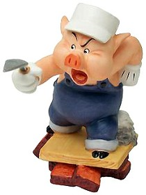 WDCC Disney Classics_Three Little Pigs Practical Pig Work And Play Don't Mix