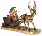 WDCC Snow White Sleepy with Deer Drawn Cart In a Mine In a Mine