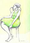 Charles Bibbs - A Lady & A Chair Hand Enhanced