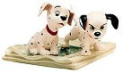 WDCC One Hundred and One Dalmatians Two Puppies On Newspaper